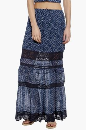 LOVE GENRATION Womens Printed Maxi Skirt