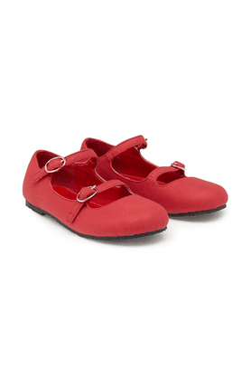 MOTHERCAREGirls PU Double Strap Shoe