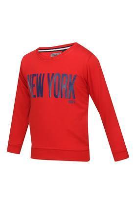 Boys Round Neck Graphic Print Sweatshirt