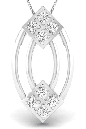 SPARKLESHis & Her Collection 92 Kt Diamond Pendants In 925 Sterling Silver Diamond HHSWP11103-92KT