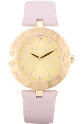 GIORDANO Womens Beige Silicon Strap Analog Watch- 2754-05