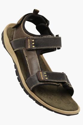 WOODLANDMens Leather Lace Up Sandals