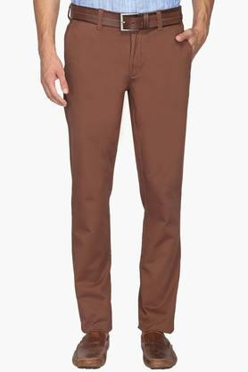 U.S. POLO ASSN. Mens Slim Fit 5 Pocket Solid Chinos