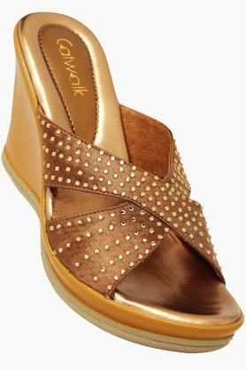 CATWALKWomens Party Wear Slipon Wedge Sandal