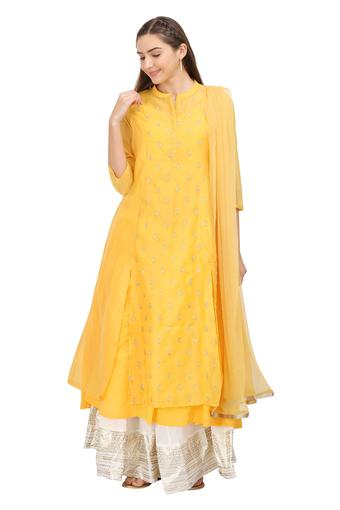 KASHISH -  Yellow Salwar & Churidar Suits - Main