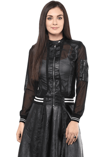 c2a606722 Buy REMANIKA Womens Leather Jacket   Shoppers Stop
