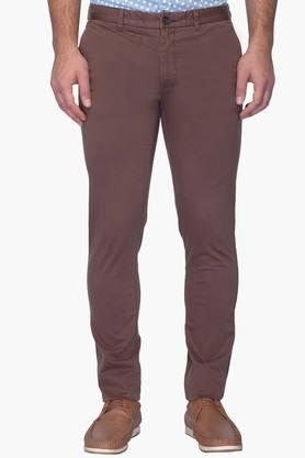Mens Super Slim Fit 4 Pocket Solid Chinos - 202123869