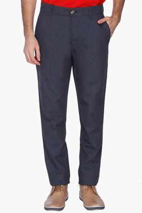 U.S. POLO ASSN. Mens Slim Fit Slub Trousers