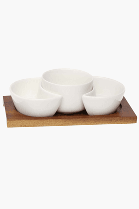 FERN 5 Pc Serving Set With Stand