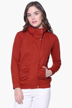 PURYS Womens High Neck Solid Jacket - 201998854_9607