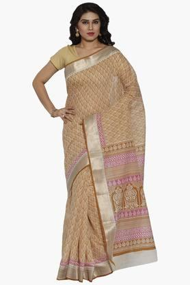JASHN Women Ethnic Motif Print Cotton Saree