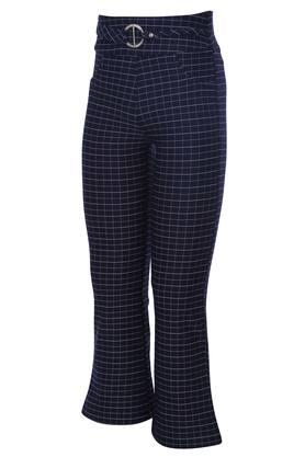 Girls 2 Pocket Checked Pants