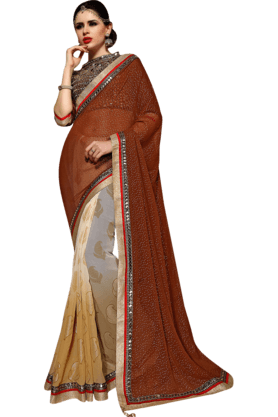 DEMARCAWomens Georgette Saree (Buy Any Demarca Product & Get A Pair Of Matching Earrings Free) - 200947102