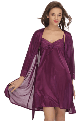 Women 2 Pcs Set Of Nightslip And Robe