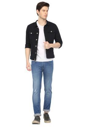 Mens Collared Solid Jacket