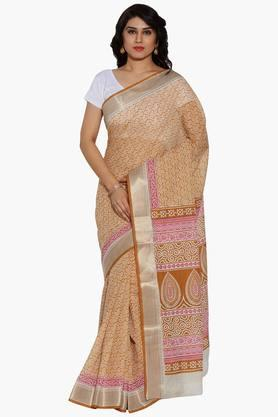 Women Paisley Print Cotton Saree