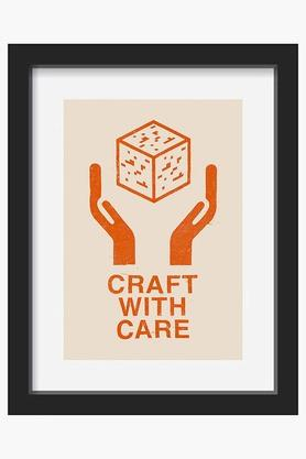 CRUDE AREA Brown Craft With Care Printed Framed Art (Small)  ...