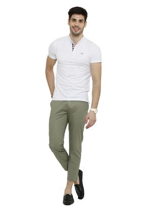 Mens 4 Pocket Striped Trousers