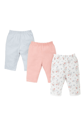MOTHERCAREGirls Cotton Printed Trouser - Pack Of 3