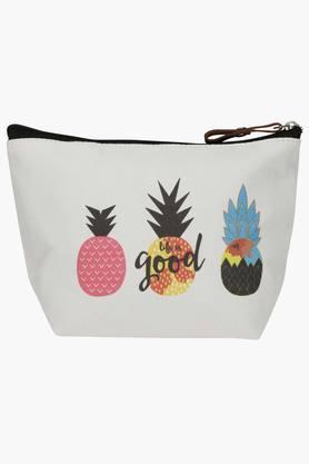 Unisex Pineapple Print Pouch