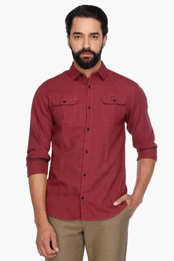 58bbb239 Buy TOMMY HILFIGER Mens Full Sleeves Casual Check Shirt | Shoppers Stop
