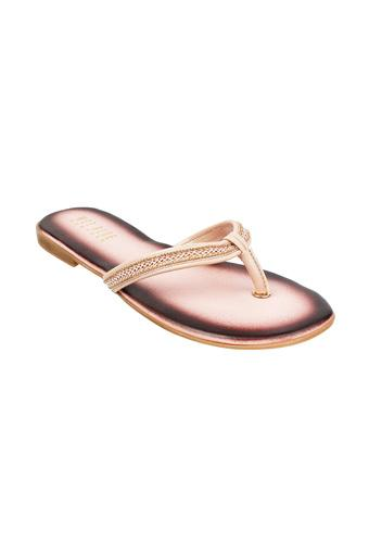 Womens Embellished Strap Slip On Flats