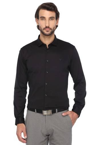ALLEN SOLLY -  Black Casual Shirts - Main