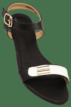 ALLEN SOLLYWomens Party Wear Ankle Buckle Closure Flat Sandal