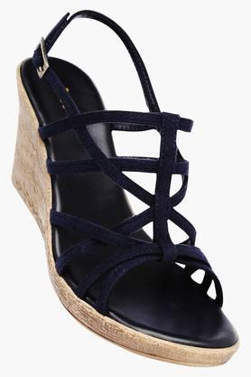 LIFE Womens Buckle Closure Suede Wedges - 201915837