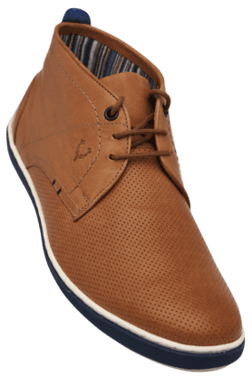 ALLEN SOLLYMens Leather Lace Up Casual Shoe