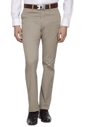 ALLEN SOLLY Mens Slim Fit Solid Chinos - 200582269