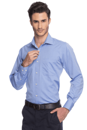 Mens Full Sleeves Slim Fit Formal Fil