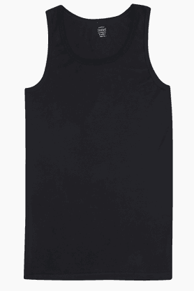 HANES Mens Stretch Solid Round Neck Vest