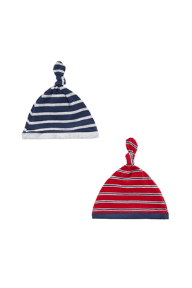 MOTHERCARE Baby Striped Hats - Pack Of 2