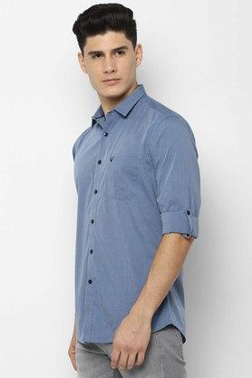 ALLEN SOLLY - Light BlueCasual Shirts - 2