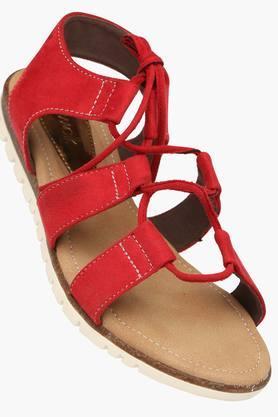 CATWALKWomens Lace Up Flat Sandal