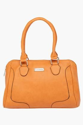 ELLIZA DONATEIN Womens Zipper Closure Satchel