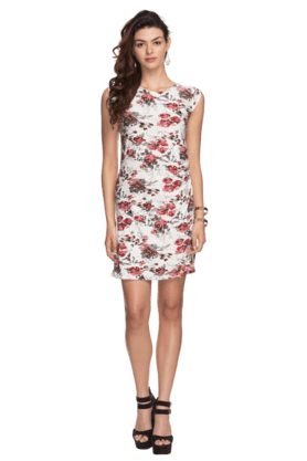 Womens Floral Printed Sheath Dress