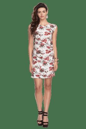 Womens Floral Printed Sheath Dress