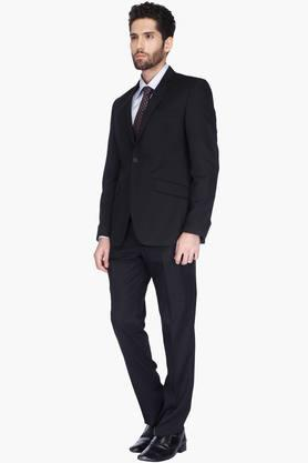 Mens Slim Fit Solid Notched Lapel Suit
