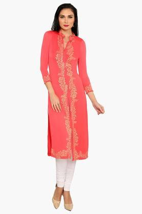 IRA SOLEILWomens Slim Fit Printed Kurta (Buy Any Ira Soleil Product And Get A Necklace Free) - 201787574