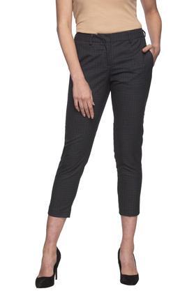 Womens 3 Pocket Check Pants