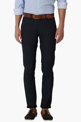 PETER ENGLAND Mens Super Slim Fit 4 Pocket Solid Trousers  ... - 202203266