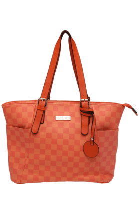 HAUTE CURRYWomens Check Bucket Handbag