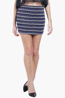 LOVE GENRATIONWomens Self Pattern Mini Skirt