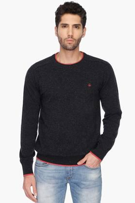 UNITED COLORS OF BENETTON Mens Regular Fit Slub Sweater