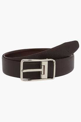 VAN HEUSEN Mens Leather Buckle Closure Formal Belt  ... - 202277400