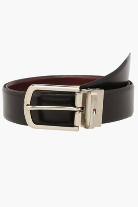 TOMMY HILFIGER Mens Leather Reversible Formal Belt