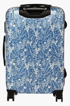 Unisex Floral Zipper Closure Hard Trolley