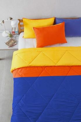 STOA PARIS Multi Colour Microfiber Patchwork Bedding Essentials (Comforter (Double)
